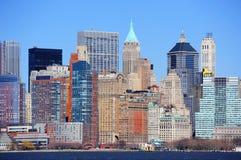 Ουρανοξύστες της πόλης Μανχάτταν της Νέας Υόρκης Στοκ φωτογραφίες με δικαίωμα ελεύθερης χρήσης