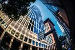 Ουρανοξύστες της Φρανκφούρτης Αμ Μάιν Στοκ φωτογραφία με δικαίωμα ελεύθερης χρήσης