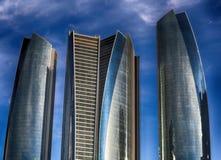 Ουρανοξύστες του Αμπού Ντάμπι Στοκ Φωτογραφίες