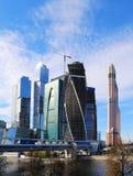 Ουρανοξύστες του διεθνούς εμπορικού κέντρου (πόλη), Μόσχα, Ρωσία Στοκ φωτογραφία με δικαίωμα ελεύθερης χρήσης