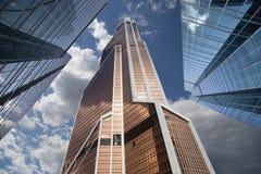 Ουρανοξύστες του διεθνούς εμπορικού κέντρου (πόλη), Μόσχα, Ρωσία Στοκ Φωτογραφία