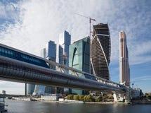 Ουρανοξύστες του διεθνούς εμπορικού κέντρου (πόλη), Μόσχα Στοκ εικόνα με δικαίωμα ελεύθερης χρήσης