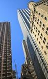 ουρανοξύστες του Μανχάτ&t Στοκ Φωτογραφίες