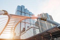 Ουρανοξύστες του υψηλού κτηρίου στο εμπορικό κέντρο της Μπανγκόκ Στοκ Εικόνες