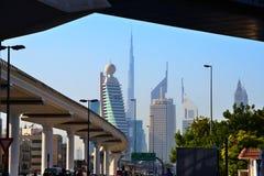 Ουρανοξύστες του World Trade Center του Ντουμπάι Στοκ εικόνες με δικαίωμα ελεύθερης χρήσης