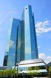 ουρανοξύστες τραπεζών deutsche Στοκ Φωτογραφία