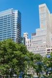 Ουρανοξύστες NYC πάρκων του Bryant Στοκ Εικόνα