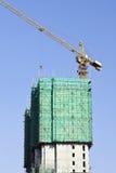 Ουρανοξύστης κάτω από την κατασκευή στο κέντρο πόλεων του Πεκίνου, Κίνα Στοκ φωτογραφία με δικαίωμα ελεύθερης χρήσης