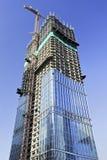 Ουρανοξύστης κάτω από την κατασκευή στο κέντρο πόλεων του Πεκίνου, Κίνα Στοκ Εικόνα