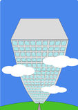 ουρανοξύστης κινούμενων σχεδίων διανυσματική απεικόνιση