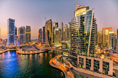 Ουρανοξύστης μαρινών του Ντουμπάι στοκ εικόνες με δικαίωμα ελεύθερης χρήσης