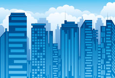 ουρανοξύστης πόλεων απεικόνιση αποθεμάτων