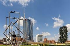 ουρανοξύστης σε Porta Nuova στο Μιλάνο, Ιταλία Στοκ φωτογραφία με δικαίωμα ελεύθερης χρήσης