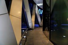 Ουρανοξύστης της πόλης του Λονδίνου τη νύχτα Στοκ φωτογραφία με δικαίωμα ελεύθερης χρήσης