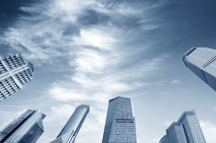 ουρανοξύστης της Σαγγάης κεντρικού οικονομικός lujiazui Στοκ Εικόνα