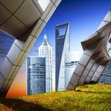 ουρανοξύστης της Σαγγάης κεντρικού οικονομικός lujiazui Στοκ εικόνες με δικαίωμα ελεύθερης χρήσης
