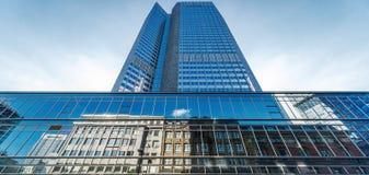 Ουρανοξύστης της Φρανκφούρτης Αμ Μάιν Γερμανία Στοκ φωτογραφία με δικαίωμα ελεύθερης χρήσης