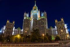 Ουρανοξύστης του Στάλιν - κατοικημένο κτήριο στο emba Kotelnicheskaya Στοκ φωτογραφία με δικαίωμα ελεύθερης χρήσης