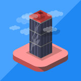Ουρανοξύστης isometric Στοκ Εικόνα