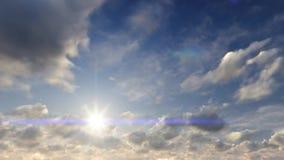 Ουρανός ανατολής και μήκος σε πόδηα σύννεφων απόθεμα βίντεο