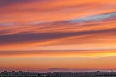 Ουρανός βανίλιας Στοκ Εικόνες