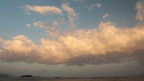 Ουρανός Βιετνάμ βραδιού χρονικού σφάλματος Cloudscape απόθεμα βίντεο