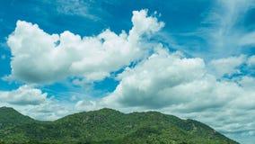 Ουρανός βουνών και άποψη σύννεφων Στοκ εικόνα με δικαίωμα ελεύθερης χρήσης