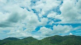 Ουρανός βουνών και άποψη σύννεφων Στοκ Φωτογραφίες