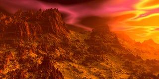 ουρανός βράχων τρισδιάστατη απεικόνιση στοκ φωτογραφίες