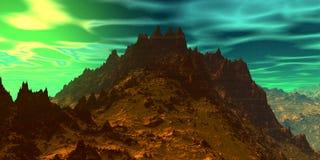 ουρανός βράχων τρισδιάστατη απεικόνιση στοκ εικόνα