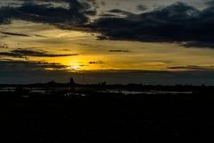 Ουρανός βραδιού, ουρανός ηλιοβασιλέματος, θαυμάσιος ουρανός, νεφελώδης ουρανός, όμορφος Στοκ Εικόνα