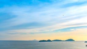 Ουρανός βραδιού θάλασσας τοπίων Στοκ εικόνες με δικαίωμα ελεύθερης χρήσης