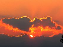 Ουρανός 2015 βραδιού πάρκων Darlington Στοκ Φωτογραφία