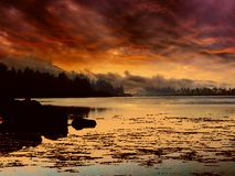 Ουρανός βραδιού φθινοπώρου στοκ εικόνες