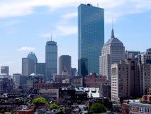 ουρανός γραμμών της Βοστών&e Στοκ φωτογραφία με δικαίωμα ελεύθερης χρήσης
