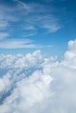 Ουρανός επάνω από το σύννεφο από το αεροπλάνο Στοκ Εικόνα