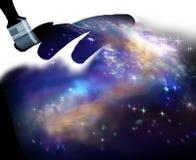 Ουρανός ζωγραφικής πινέλων, αστέρια Στοκ εικόνα με δικαίωμα ελεύθερης χρήσης