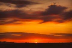 Ουρανός ηλιοβασιλέματος Στοκ Εικόνα