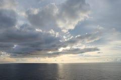 Ουρανός θάλασσας και clound Στοκ Εικόνες