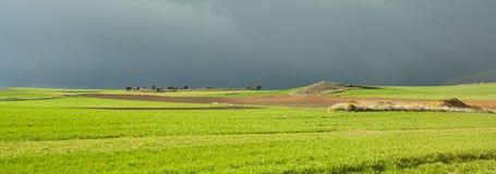 Ουρανός θύελλας στον τομέα Soria, Ισπανία στοκ φωτογραφίες με δικαίωμα ελεύθερης χρήσης