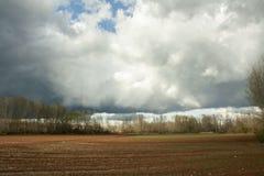Ουρανός θύελλας στον τομέα Soria, Ισπανία στοκ φωτογραφία με δικαίωμα ελεύθερης χρήσης