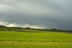 Ουρανός θύελλας στον τομέα Soria, Ισπανία στοκ εικόνες με δικαίωμα ελεύθερης χρήσης