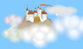 ουρανός κάστρων Στοκ φωτογραφία με δικαίωμα ελεύθερης χρήσης