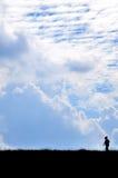 Ουρανός και βουνό Στοκ Εικόνα