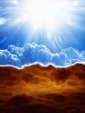 Ουρανός και κόλαση στοκ εικόνα με δικαίωμα ελεύθερης χρήσης