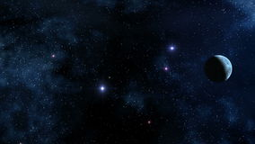 Ουρανός και πλανήτης αστεριών διανυσματική απεικόνιση
