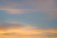 Ουρανός και σύννεφα θαμπάδων Στοκ εικόνα με δικαίωμα ελεύθερης χρήσης