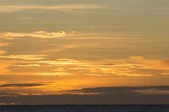 Ουρανός και σύννεφα στο ηλιοβασίλεμα Στοκ Φωτογραφία