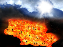 Ουρανός και κόλαση στοκ φωτογραφία με δικαίωμα ελεύθερης χρήσης