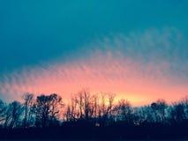 Ουρανός καραμελών βαμβακιού Στοκ Εικόνα